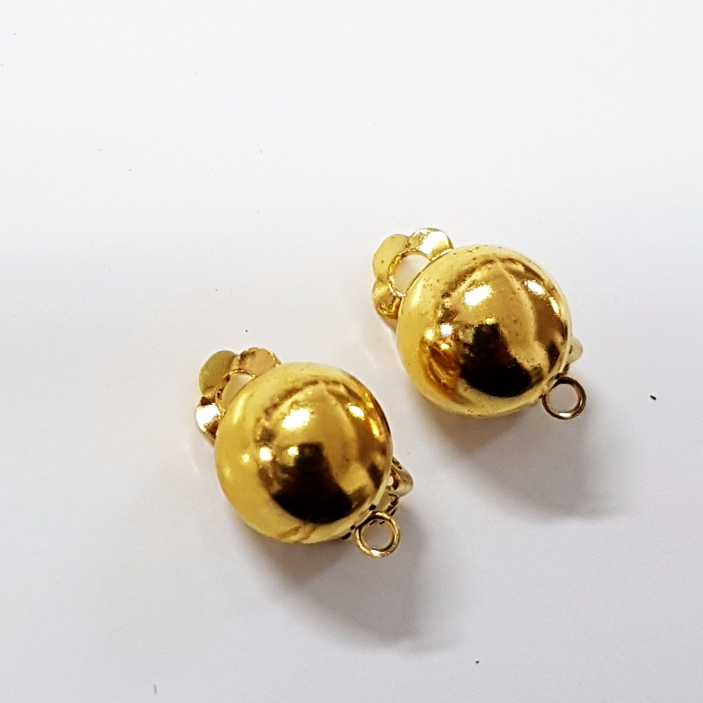 Gold Plated Clip On Earring Components