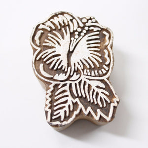 Hibiscus Flower Indian Block Stamp