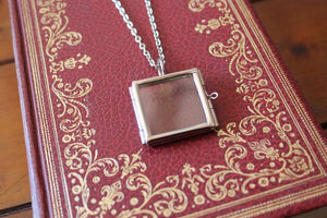 Heirloom Glass Locket Necklace