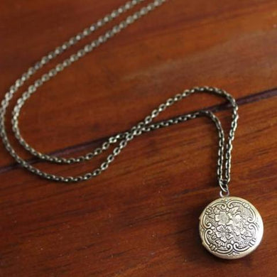 Ornate Floral Locket Necklace