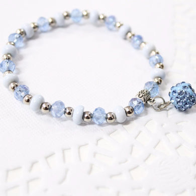 Light Blue Beaded Bracelet