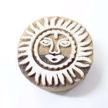 Moon Hand Carved Indian Block Stamp