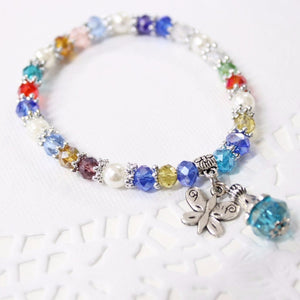 Multi Color Crystal Beaded Bracelet