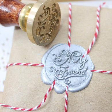 My Friend Wax Seal with Two Wax Sticks