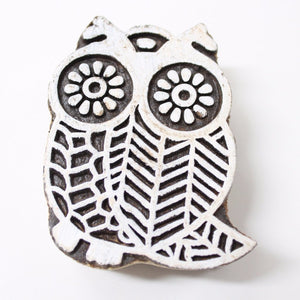Owl Hand Carved Indian Block Stamp