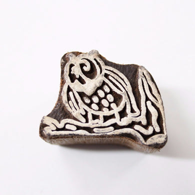 Owl on a Branch Block Stamp