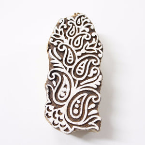 Paisley Floral Wooden Indian Block Stamp