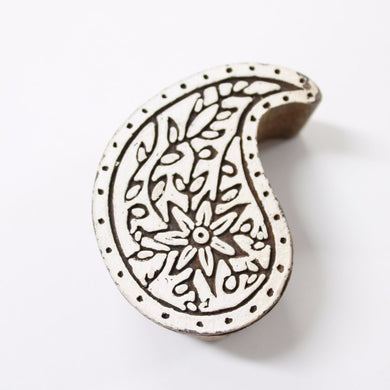 Paisley Hand Carved Block Stamp