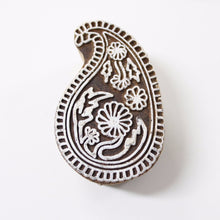 Paisley Hand Carved Indian Block Stamp