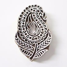 Paisley Plant Hand Carved Indian Block Stamp