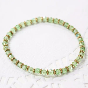 Pretty Green Crystal Beaded Bracelet