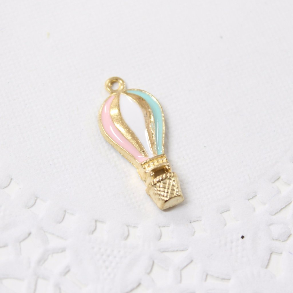 Pretty Pastels Hot Air Balloon Charm