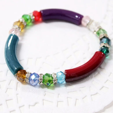 Rainbow Elastic Stretch Bracelet
