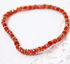 Red Crystal Stretch Bracelet