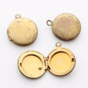 Small Vintage Brass Locket