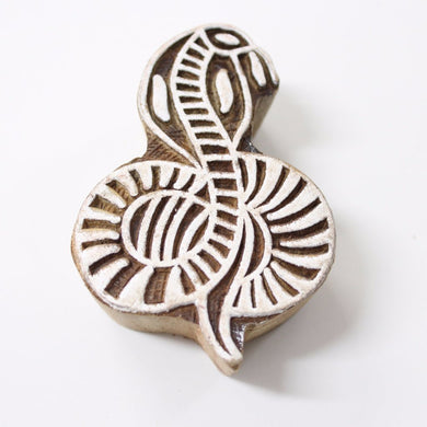 Snake Hand Carved Indian Block Stamp