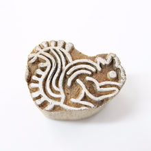 Squirrel Carved Wooden Block Stamp