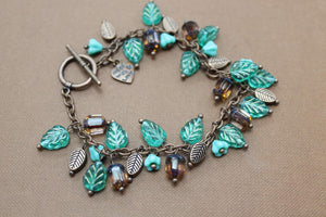 Czech Beaded Copper Bracelet