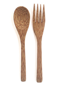 Coconut Shell Fork and Spoon Set