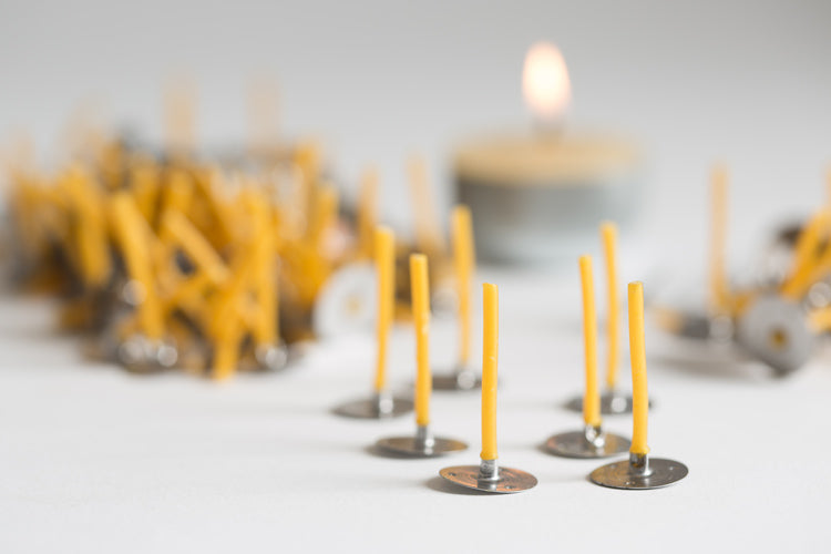 Organic Cotton Tealight Wicks - 10 Pack