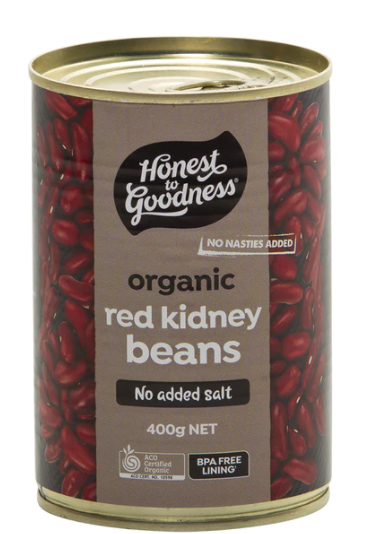 Organic Red Kidney Beans 400g (Cooked)