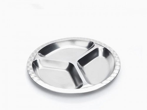 Stainless Steel Medium Divided Food Tray