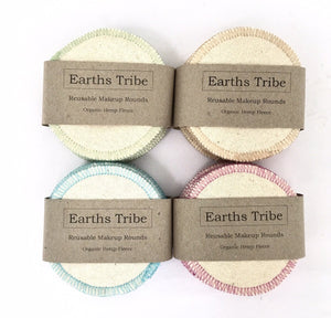 Reusable Organic Hemp Makeup Rounds