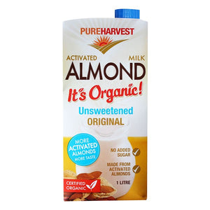 Organic Activated Almond Milk - Unsweetened 1L