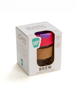 Glass Coffee Cup Brew - Cork Edition