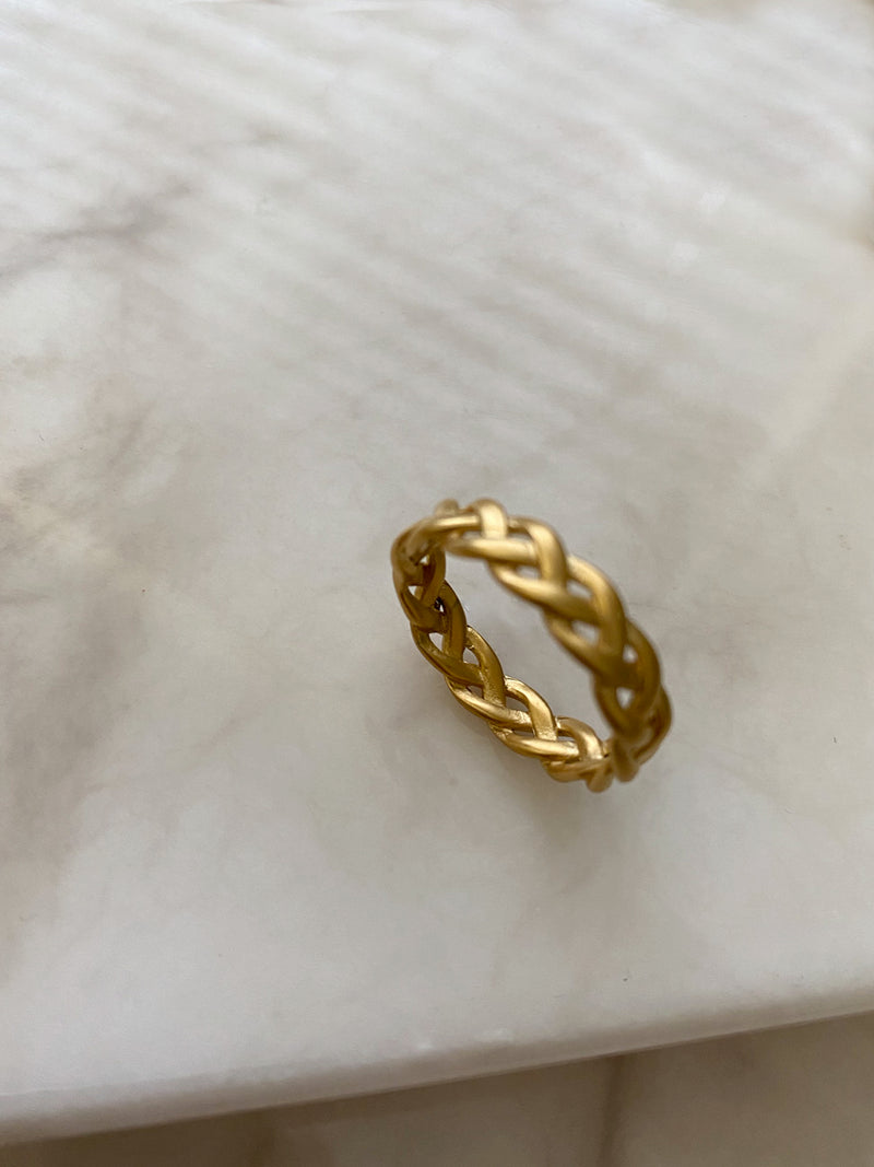 Braided Matt Gold Ring