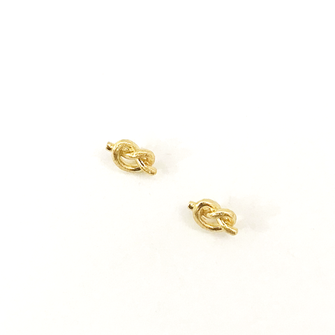 LITTLE GOLD TIE EARRING