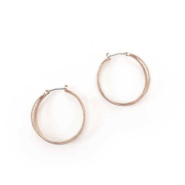 RITA ROSE GOLD EARRING