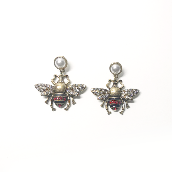RED BEE EARRING
