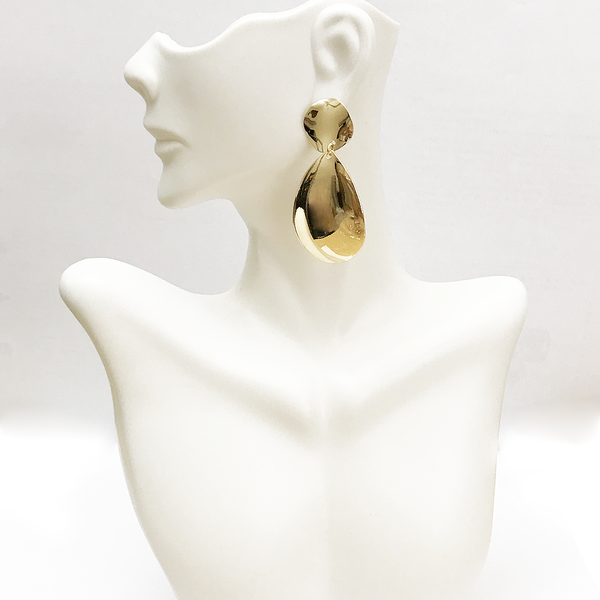 SMOOTH SHAPE PLATED EARRING