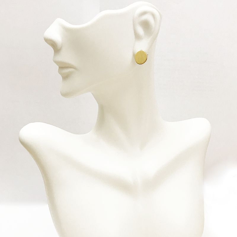 DENTED DOT GOLD EARRING