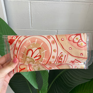 Hand Painted Clutch - small 2 - G&E BOUTIQUE