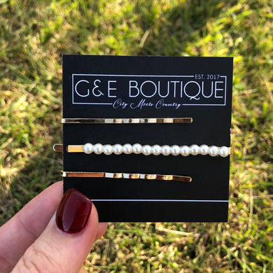 Triple Treat Hair Pin Pack 2 - G&E BOUTIQUE