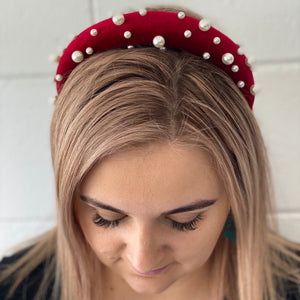 Pearl Velvet Headbands - G&E BOUTIQUE