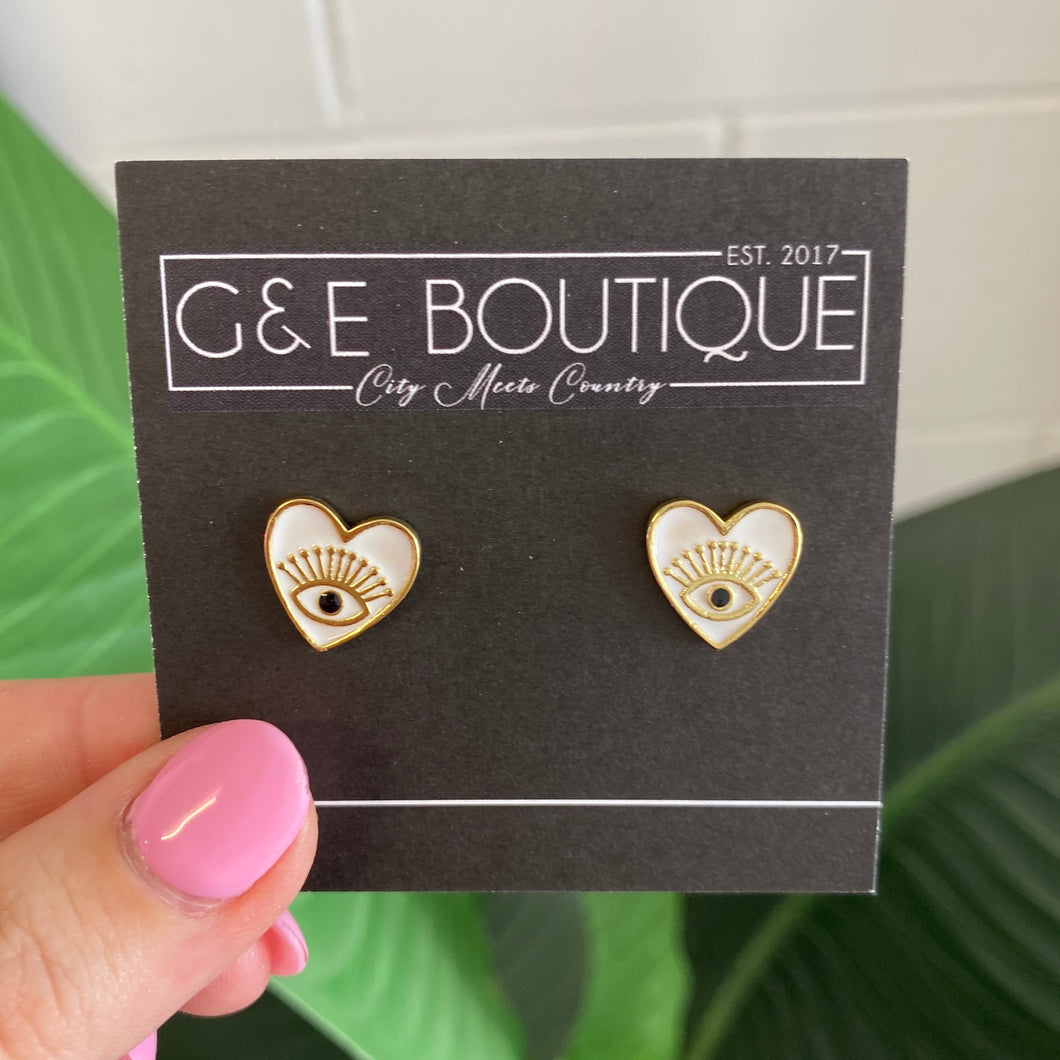 Heart Eye Earrings - G&E BOUTIQUE