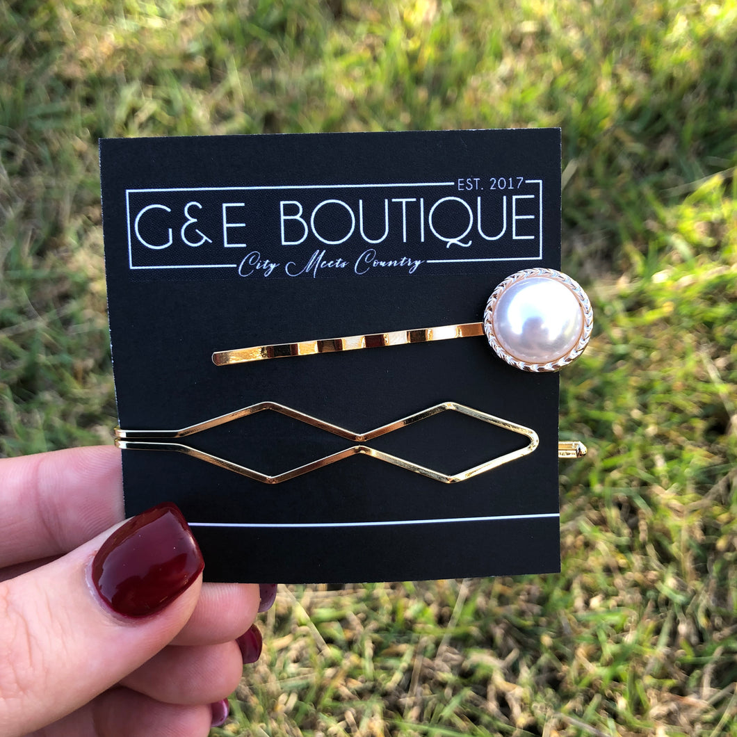 Pearl Hair Pin Pack 2 - G&E BOUTIQUE
