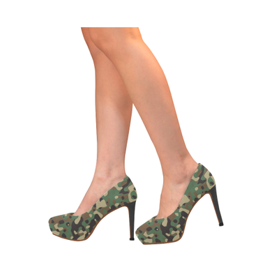 Army Print Heels Women's High Heels