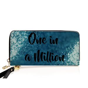 """One In a Million"" PU Leather Wallet around Long Clutch Purse"