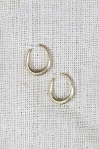 Open Hoop Push Back Earrings