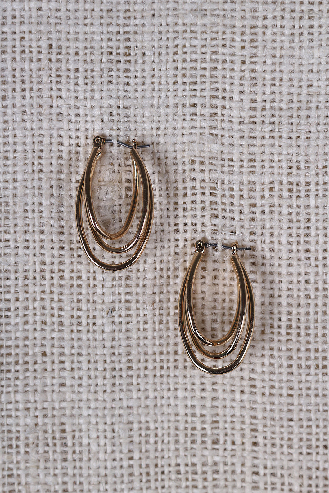 Oval Wire Hinged Earring