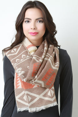 Tribal Knit Scarf