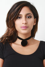 Velvet Pom Choker Necklace