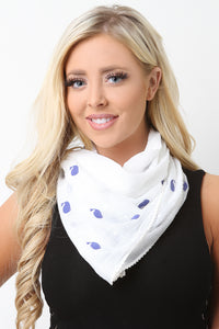 Polka Dot Whale Lightweight Scarf
