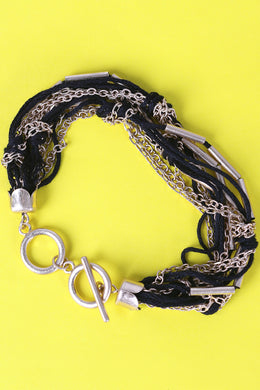 Threaded Chain Bar Accent Bracelet