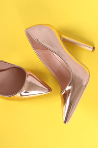 Mirror Metallic Pointy Toe Stiletto Pump