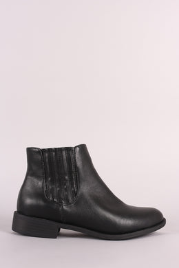 Bamboo Side Elastic Gore Chelsea Booties